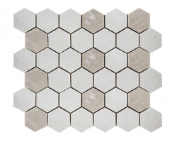 Crema Nova Mini Hexagon (мрамор)